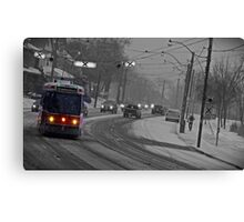 Streetcar in the Snowstorm Canvas Print