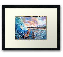 Hawaiian morning shore sunrise  Framed Print