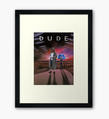 DUDE/DUNE Framed Print