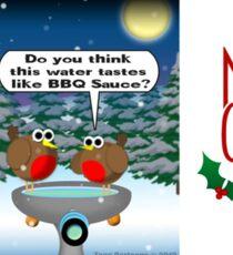 Dalek Christmas Bird Bath Sticker