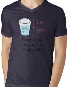 Half Water Half Air = Glass is Always Full Mens V-Neck T-Shirt
