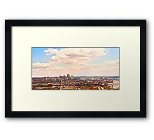 Cincinnati Skyline from West Framed Print