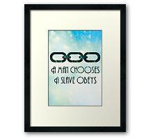 Bioshock/Infinite Quote Framed Print