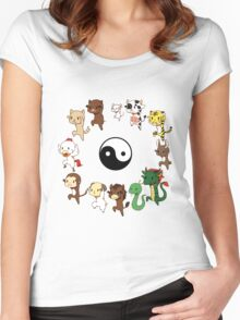 Chinese Zodiac Women's Fitted Scoop T-Shirt