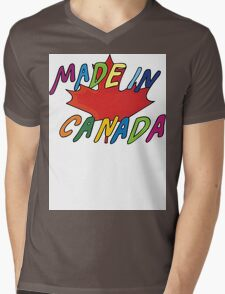 Made In Canada Mens V-Neck T-Shirt