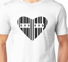 Heart Shaped Barcode Unisex T-Shirt