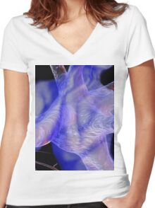 ~cranial loop~ Women's Fitted V-Neck T-Shirt
