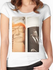 Homage to Film Critic Roger Ebert Women's Fitted Scoop T-Shirt