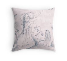 Cecily Catches the Moon Throw Pillow