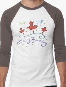 Happy Birthday Canada Men's Baseball ¾ T-Shirt