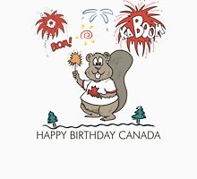 Happy Birthday Canada Womens Fitted T-Shirt