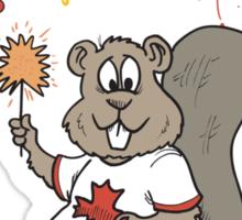 Happy Birthday Canada Sticker