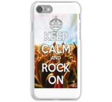 Keep Calm And Rock On iPhone Case/Skin