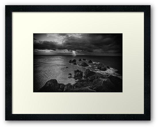 New Zealand Nugget Point Sunrise by lesslinear