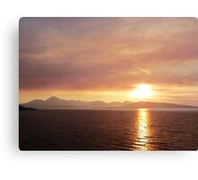 Smokey Sunset o'er The Cuillins Canvas Print