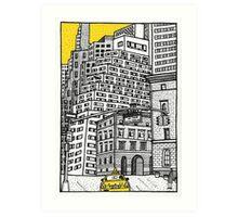 New York yellow taxi Art Print