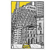 New York yellow taxi Photographic Print