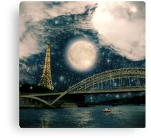 One Starry Night in Paris Canvas Print