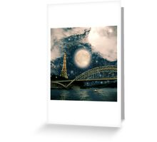 One Starry Night in Paris Greeting Card