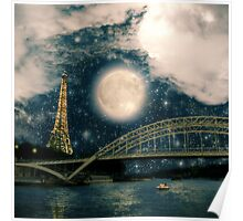 One Starry Night in Paris Poster