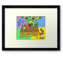 Turrón Peruano - Lumionous Green Heart [4] Framed Print