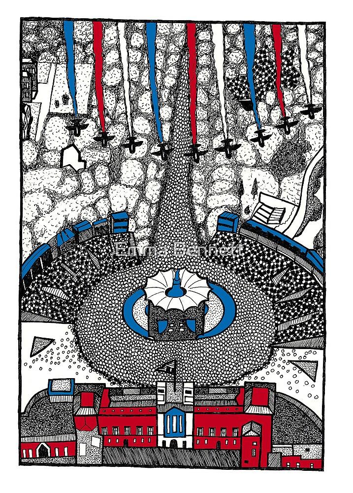 The Diamond Jubilee Red Arrows by Emma Bennett