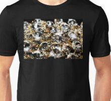 Diamonds and Gold SuperMacro 9 Unisex T-Shirt