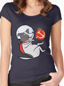 Laika the Space Dog Women's Fitted Scoop T-Shirt