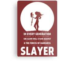 She Is The Slayer Metal Print