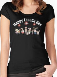 Happy Canada Day Women's Fitted Scoop T-Shirt
