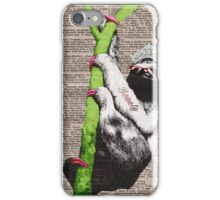 Slothful Sloth Beauty Queen iPhone Case/Skin