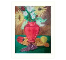red vase # 0 Art Print