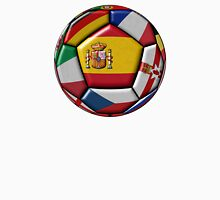 Soccer ball with flag of Spain in the center Unisex T-Shirt