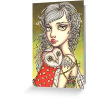 Athena and Her Royal Companion Greeting Card