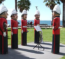 'STANDING TO ATTENTION'!  on the Waterfront, Geelong, Vic. by Rita Blom
