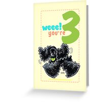 Kids Birthday Age 3 Cocker Spaniel Card Greeting Card