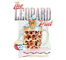 The Leopard Pint Photographic Print