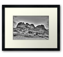 Hills and Valleys Framed Print