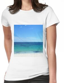 Sand, Sea and Sunny BlueSky Scenery Womens Fitted T-Shirt