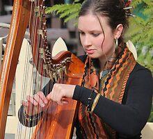 Harpist at Sheffield - beautiful Marietta    #6823 by gaylene