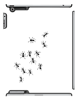Ants on iPad by Nathalie Chaput