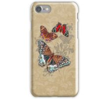 Butterflies on Brown Floral iPhone Case/Skin