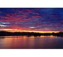 Sunset on the Huron River Photographic Print