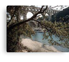 Pont du Gard 19840304 0005m Canvas Print