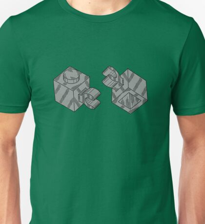 The Lego Medium Stone Grey Brick 1X1 W/ Holder, Vertical Unisex T-Shirt