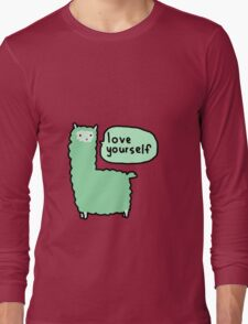 Love Yourself Alpaca Long Sleeve T-Shirt