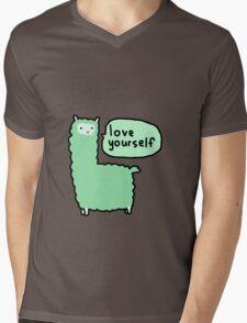 Love Yourself Alpaca Mens V-Neck T-Shirt