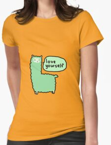 Love Yourself Alpaca Womens Fitted T-Shirt
