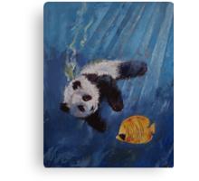 Panda Diver Canvas Print