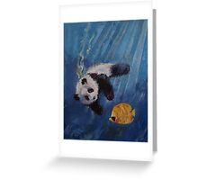 Panda Diver Greeting Card